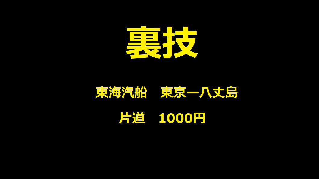 裏技 東海汽船 1000円