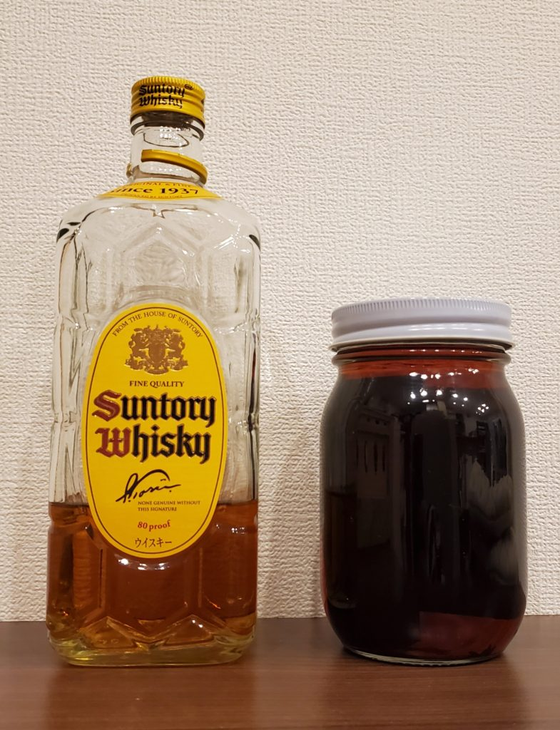 ウイスキー熟成4週間